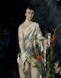 Jeune fille aux iris