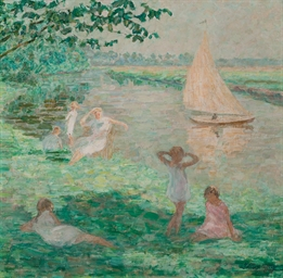 Jeunes filles au bord de la Ly