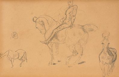 Cheval (recto); Cavalier et de