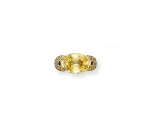 A COLOURED SAPPHIRE, DIAMOND A