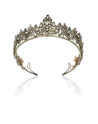 A GEORGE III DIAMOND TIARA