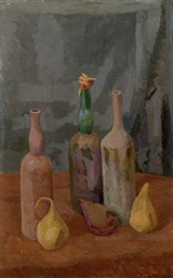 Natura morta di bottiglie