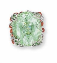 à GREEN BERYL AND MULTI-GEM 'INCROYABLES ET MERVEILLEUSES' RING, BY CHRISTIAN DIOR