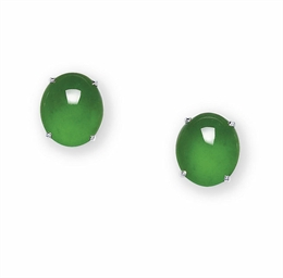 AN PAIR OF IMPORTANT JADEITE E