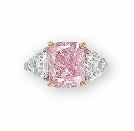 THE VIVID PINK AN EXQUISITE COLOURED DIAMOND AND DIAMOND RING, BY GRAFF