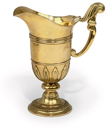 A FRENCH GILT BRASS EWER