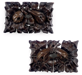 A PAIR OF HENRY VII OAK ROOF B