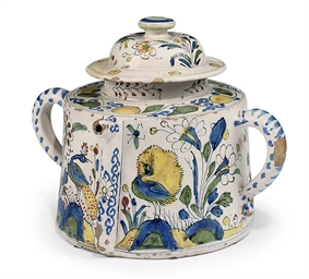 A DUTCH DELFT POLYCHROME CYLIN