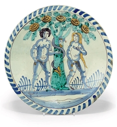 A BRISLINGTON DELFT BLUE-DASH