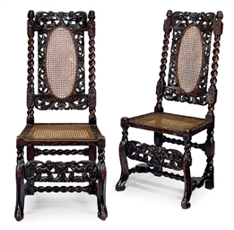 A PAIR OF CHARLES II WALNUT AN