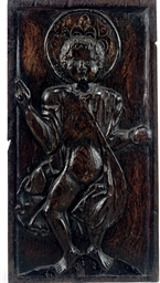 A FRENCH OAK PANEL OF THE INFA