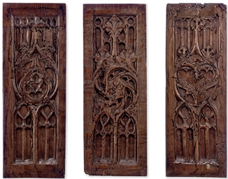 A SET OF THREE FRENCH GOTHIC O