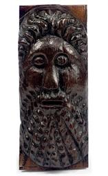 AN ENGLISH OAK RELIEF BEARDED