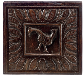 A CHARLES II WALNUT PANEL OF A