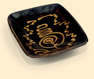 A STAFFORDSHIRE SLIPWARE RECTA