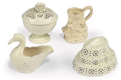 A GROUP OF ENGLISH CREAMWARE