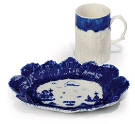 A WEST PANS LITTLER'S BLUE MUG