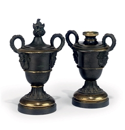 A PAIR OF REGENCY BRONZE CASSO