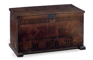 AN ELIZABETHAN OAK AND INLAID