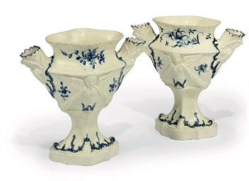 A PAIR OF STAFFORDSHIRE CREAMW