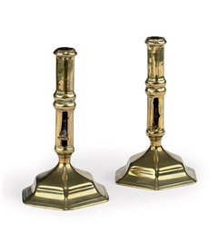 A PAIR OF GEORGE I BRASS EJECT