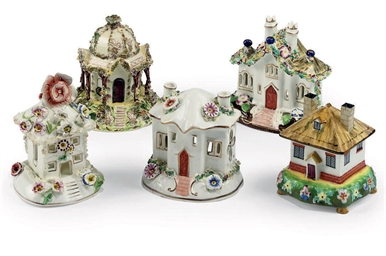 FOUR STAFFORDSHIRE PORCELAIN P