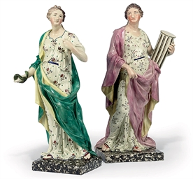 A PAIR OF ENOCH WOOD PEARLWARE
