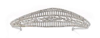 Tiara belle epoque in diamanti di jacques chaumet for Tiara di diamanti