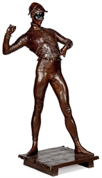 A FRENCH BRONZE COMMEDIA DELL'