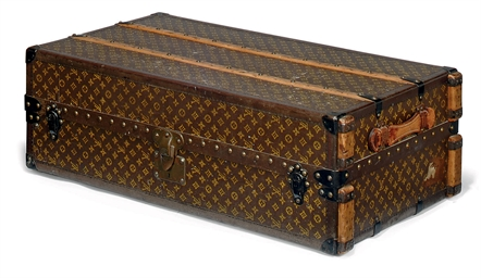 A LARGE MONOGRAM TRUNK