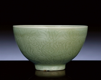AN EARLY MING CARVED LONGQUAN