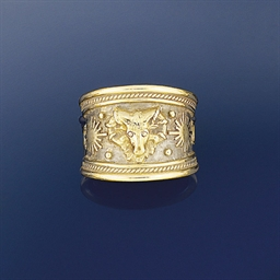A zodiac ring, by Elizabeth ga