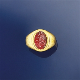 An antique cornelian intaglio