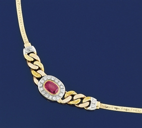 A Ruby and Diamond-set Neckla