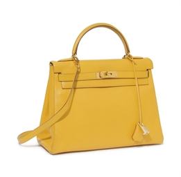 A YELLOW 'KELLY' BAG