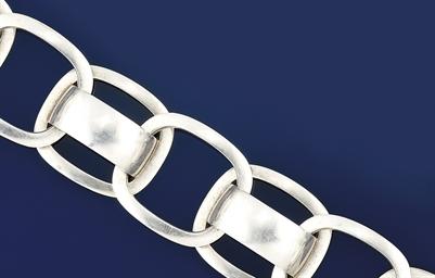 A silver bracelet, by Georg Je