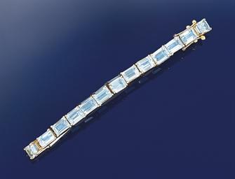 An aquamarine bracelet