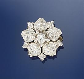 A late 19th century diamond br