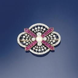 An Edwardian diamond and ruby