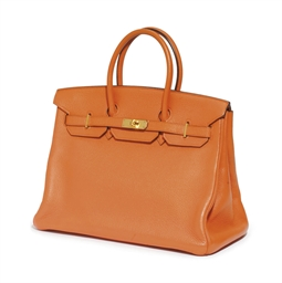 AN ORANGE TOGO 'BIRKIN' BAG