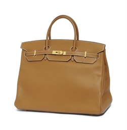 A GOLD 'BIRKIN' BAG