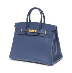 A BLUE TAURILLION 'BIRKIN' BAG