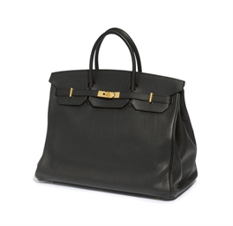 A BLACK 'BIRKIN' BAG