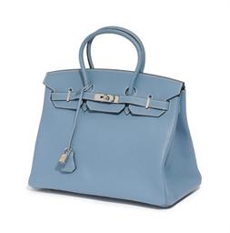 A BLUE JEAN TOGO 'BIRKIN' BAG