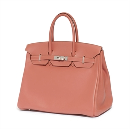 A ROSEY BOX LEATHER 'BIRKIN' B