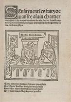 CHARTIER, Alain (ca 1385-143) Sensuyvent les faits de maistr