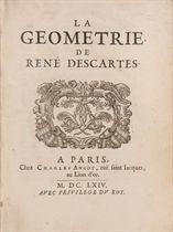 DESCARTES, René (1596-1650) La Géométrie Paris: Charles Ango
