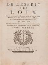 [MONTESQUIEU, Charles de Secondat, baron de (1689-1755)] De