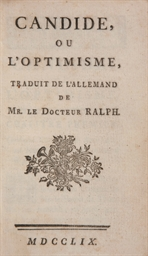 VOLTAIRE (1694-1778). Candide