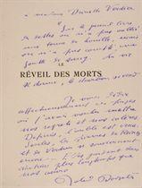 [FALKÉ] -- DORGELÈS, Roland (1885-1973). Le Réveil des morts. Paris: Mornay, 1924.